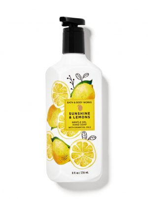 SUNSHINE & LEMONS<br>Delikatne mydło do rąk w żelu<br>8 fl oz / 236 ml